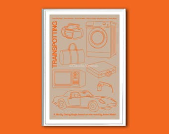 Retro print Trainspotting 12x18 inches film poster