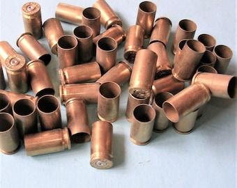 35 Bullet Casings Bullet Shells Brass Bullet Shells Steampunk Jewelry DIY Jewelry 9 mm Luger Brass Bullet Casings