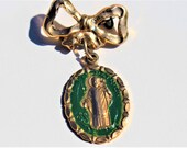 Vintage St Patrick Brooch Pin Made in Italy