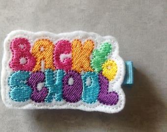 Back To School Hair Clip, Girls Hair Clip, Felt Hair Clips, Girls Hair Bows, Feltie, Clippie, Back To School Felt Hair Clip