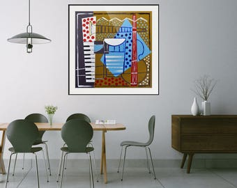 Abstract/Cubist/Jazz/Music/Art/Limited Edition/Giclee/Print