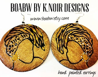 Stained Loc Queen Earrings
