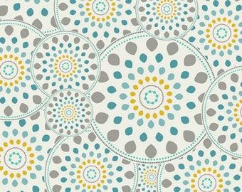 Bright Wheels Aqua - Essentials -  Pat Bravo - Art Gallery Fabric - 100% Quilters Cotton  ESS-2301