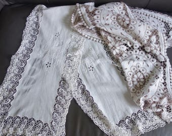 two beautiful vintage lace runners