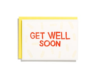 Get Well Soon - Letterpress Sympathy Card - CS098