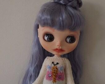 BLYTHE BUTTERFLY SWEATER/Jumper, Custom Blythe outfit, Blythe clothes, Blythe knitted Top