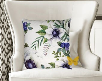 Anemone Flower Pillow Exclusive Design