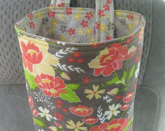 Trash Bin, Car Trash Bag, Cute Car Accessories, Headrest Bag, Trash Container, Yellow and Orange Flowers