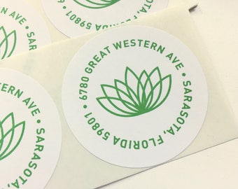 Return Address Sticker - Namaste (100 qty)