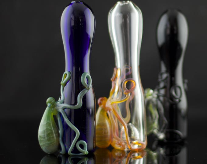 10 Octopus Glass Large Chillums Wholesale / 10pc Octopus Pipes / Glass Hand Pipe / Bat / Heady Glass / Custom Glass Pipes / Made to Order