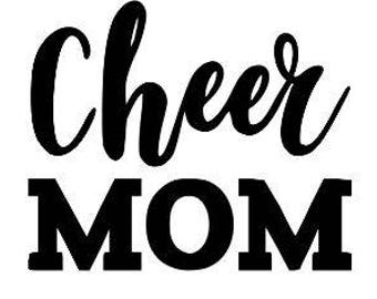 Cheer Mom Funny Vinyl Car Decal Bumper Window Sticker Any Color Multiple Sizes Mothers Day Jenuine Crafts