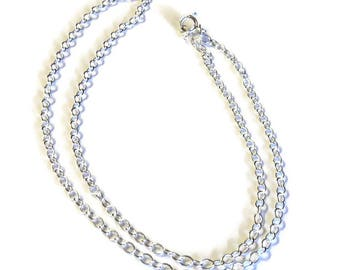 """18"""" Sterling Silver Filled Cable Chain, DIY Jewelry Supplies, Chain Necklace"""