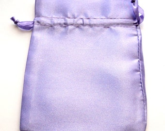 """10 Lavender Satin Pouches, 4"""" x 5"""",  Light Purple Gift Bags, Packaging, Jewelry Bags,  Party Favor Bags"""