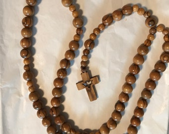 Rosary Olive Wood Rosary 13 mm