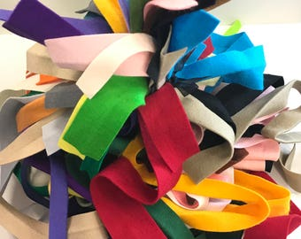 Wool Felt Ribbons, Felt Remants, Wool Strips, Pure Merino Wool