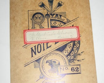 Vintage Royal Note Book No. 62 -  Note Book for Altered Art