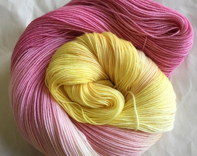 watercolors sock yarn - rosy maple moth