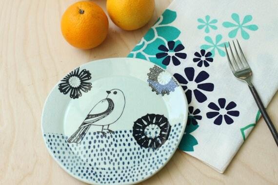 ceramic bird plate