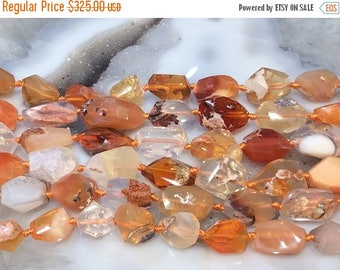 50% Mega Sale Mexican Fire Opal Faceted Gemstone Beads