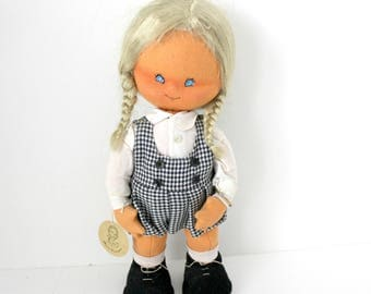 Mary Vazquez Doll, Felt and Cloth with Tag and Gold ID Bracelet