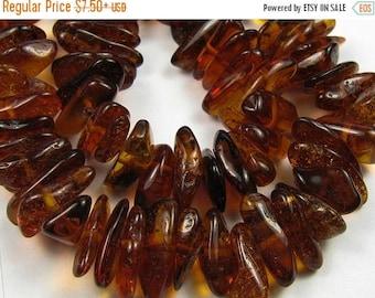 ON  SALE Dark Amber Gemstones. Center Drilled,  Semi Precious Genstones. 8-10mm. Strand Your Choice (jabd)