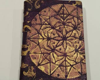 Painted Soft Cover Canvas Journal 2