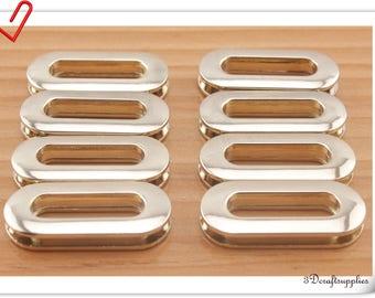 8Pcs 25mm / 1 inch Zinc alloy  screws on Oval eyelets & grommets Light gold CK87