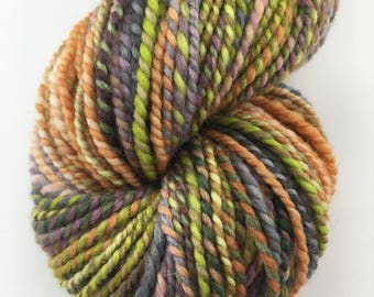 "Handspun Yarn Worsted Polwarth 150 yds. ""Cauldron"""