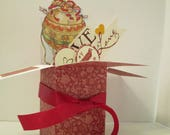 Handmade Anniversary or Love You  Exploding Box Pop Up  Card -Hot Air Balloon -- One of a Kind Free Shipping in USA