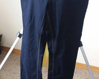 womens dark blue  jeans pants size 10 Medium 32 x 33 90s jeans womens vintage jeans womens pants 90s clothing