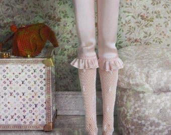 jiajiadoll - pink silk laced legging pants fit Blythe Middie blythe Pullip jerryberry azone momoko misaki dorandoran