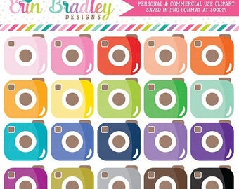 80% OFF SALE Camera Clipart Personal & Commercial Use Cute Cameras Photography Clip Art Graphics