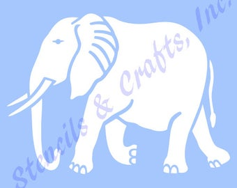 "4"" ELEPHANT STENCIL SAFARI stencils template animal background art pochoir templates craft pattern scrapbook paint new"