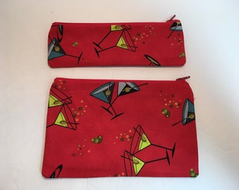 Two Zippered Set Large Case Pencil Case