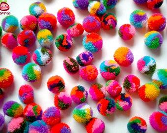 RESERVED LISTING 200 Mini Yarn Pom Poms