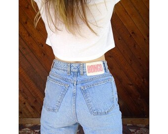 20% off SUMMER SALE. . . Light Wash h/w Denim Boyfriend Jeans - Vintage 90s- S/M