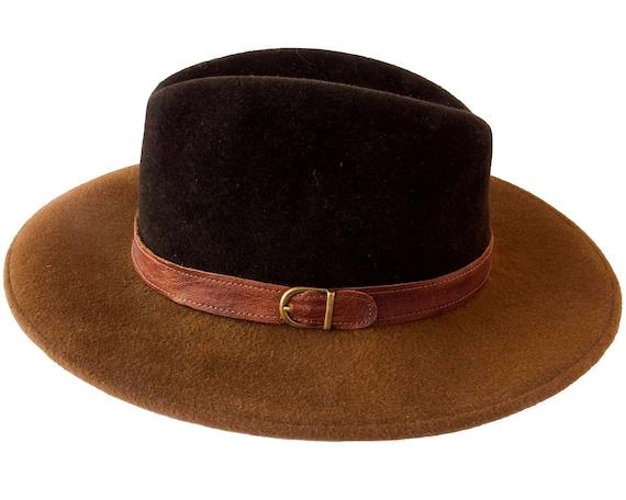 Wide Brimmed Fedora Hat Women Fall Fashion Fall Accessories Winter Accessories  Felt Hat Women's Hat Men's Hat Wide Brim Brown Hat
