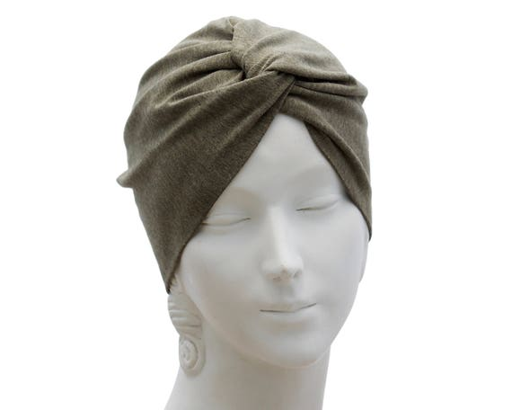 Taupe Turban Hat Chemo Turban Women's Turban Hat Hair Covering Scarf Beach Coverup Chemo Cap Hair Scarf Fashion Turban 1940s Chemo Hat