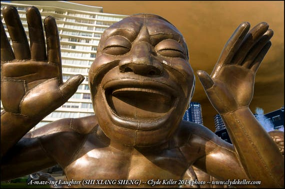 A-maze-ing Laughter , Vancouver, Canada, Clyde Keller Photo, Fine Art Print, Color, Signed