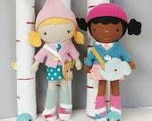 "Custom Made Doll - 15"" HANDCRAFTED STUDIO DOLL  - Handmade, Doll, Girl, Boy, Toy, Plush, Children, Gift"