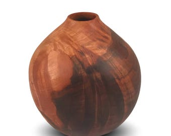 Two Toned - Black Walnut Vessel - Handmade Vessel - Woodturned Vessel