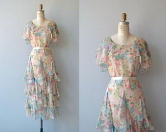 Florabunda silk dress   vintage 1920s dress   floral 20s dress