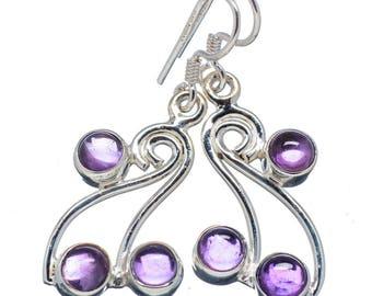 Amethyst Celtic Swirl Sterling Silver Earrings