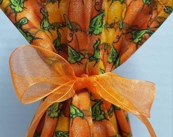 SALE Wine Bottle Gift Bag Fall Pumpkins