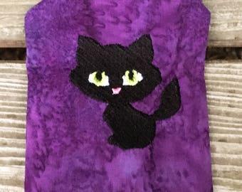 Black Cat Mojo Bag - Kitty Cat Bag - Kitty Bag - Cat Bag - Mojo Bag - Cat Coin Purse - Coin Purse - Medicine Bag - Black Cat Zip Bag