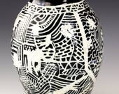Handmade Carved Ceramic V...