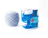 Whale Yarn Holder- Blue Yarn Keeper- Yarn Organizer- Yarn Storage- Yarn Bowl- Crochet Accessories- Yarn Holder- Skein Coats- Knitting