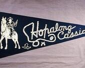 Orig. Vintage 1950 Hopalong Cassidy Hoppy Felt Pennant