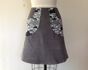 Darcie  a-line pocketed skirt Sz 2