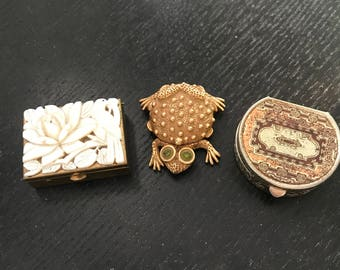 Vintage Pill Boxes Lot of 3